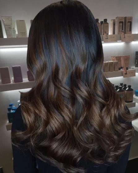 Black-Hair-with-Chocolate-Brown-Balayage