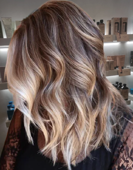 Bright-Blonde-Highlights-for-Chocolate-Hair