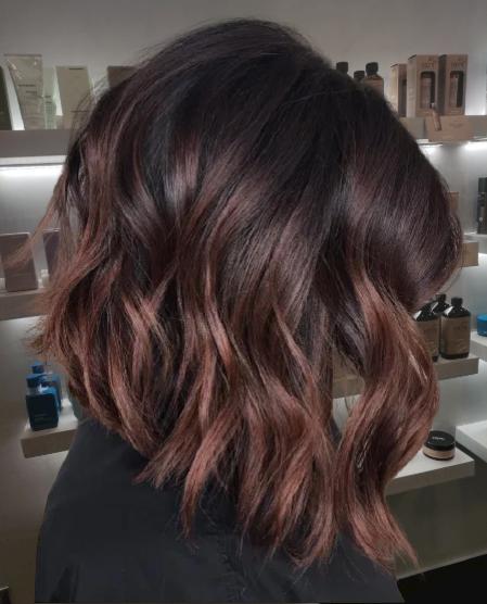Cherry-Chocolate-Balayage-for-Black-Hair
