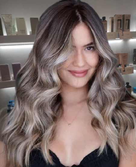 Shiny-Ash-Blonde-Highlights-for-Brown-Hair